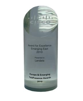 Компании Landata получила награду Лучший партнер в регионе Развивающиеся рынки, Восток от технологической группы Cisco TelePresence