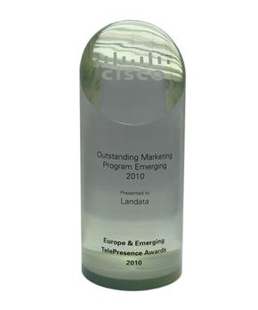 Компании Landata получила награду Выдающаяся маркетинговая стратегия» от технологической группы Cisco TelePresence